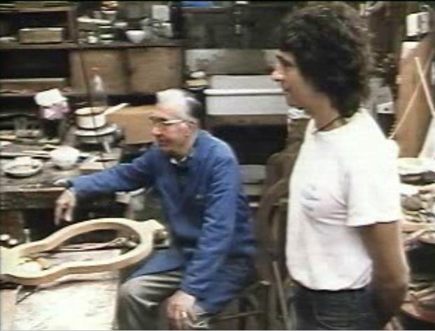 Favino in his shop